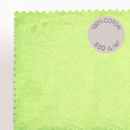 tapis de bain 50x70 cm pure vert pomme 700 g m2