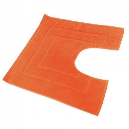 tapis de bain contour wc et lavabo 60x60 cm flair rouge terre 1500 g m2