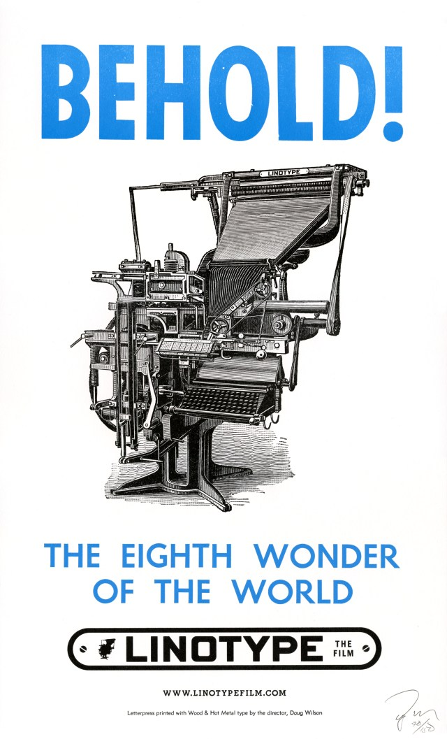 Linotype The Film Beholdposter
