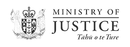 Organisation logo for the New Zealand Ministry of Justice
