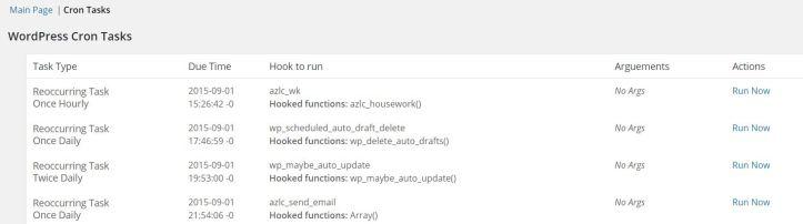 Wordpress Core Control Plugin Cron Tasks Module