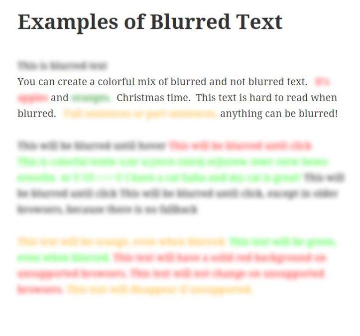 Blur Text Screenshot #1