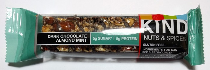 Dark Chocolate Almond Mint Kind Nuts & Spices Bar