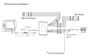 LSB03 8 Sensors Parking System For School Bus
