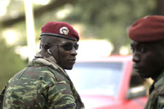 "Cherif Ousmane (""Guepard"") of Forces nouvelles (former rebels), military commander of the region around the central town of Bouaké, Ivory Coast"