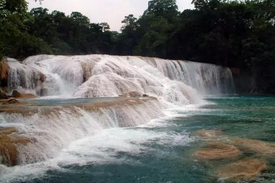 les cascades agua azul, mexique