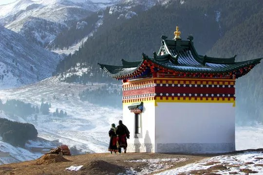 montagnes temple sichuan