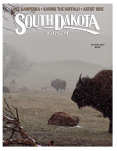 Kathy Linton's image featured on the cover of South Dakota Magazin