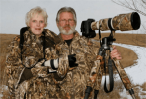 South Dakota wildlife photographers, Ron and Kathy Linton