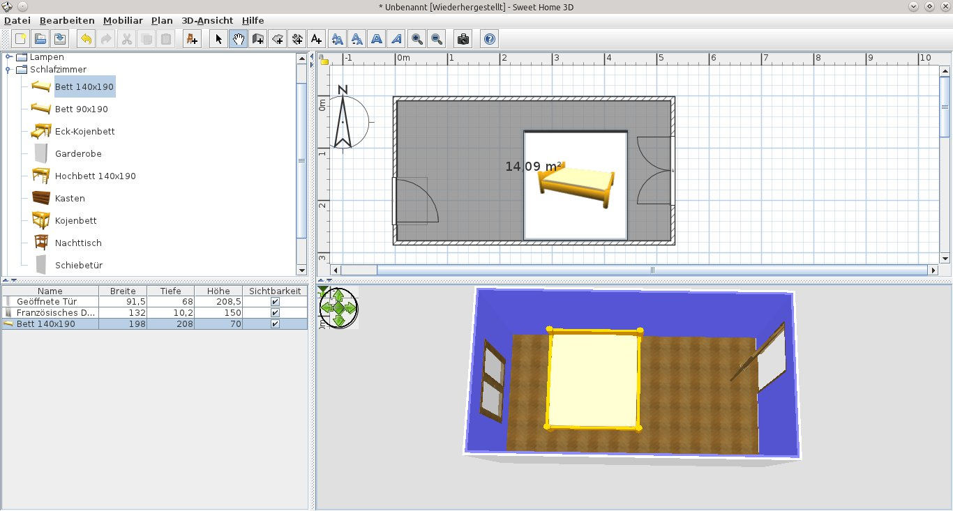 Jul 27, 2021· sweet home 3d is a free interior design application that helps you draw the plan of your house, arrange furniture on it and visit the results in 3d. Virtuelle Raumplanung Mit Sweet Home 3d Seite 2 Von 3 Linuxcommunity