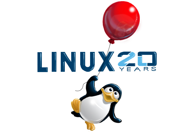 20th Anniversary of Linux T-shirt by Kim Blanche