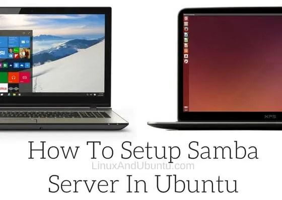 setup samba server in ubuntu