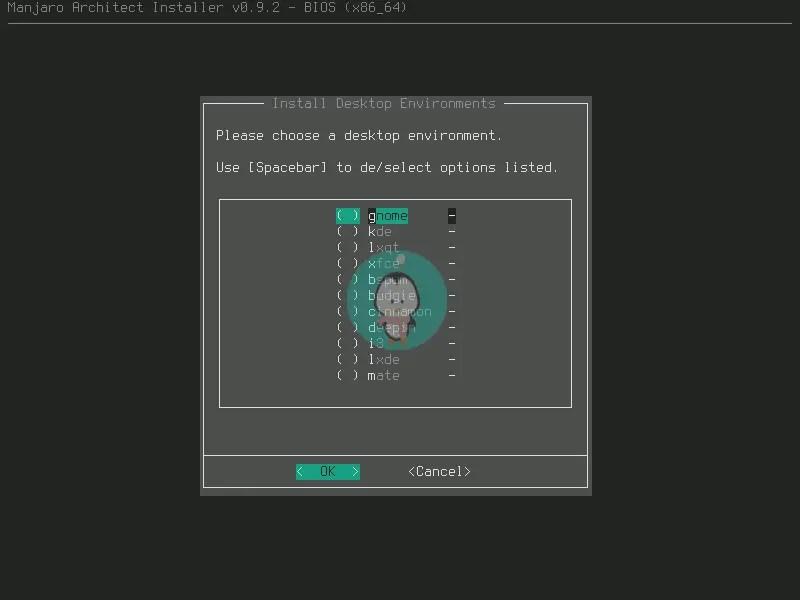 manjaro desktop environment