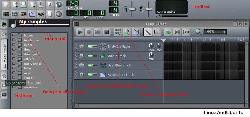 lmms master volume
