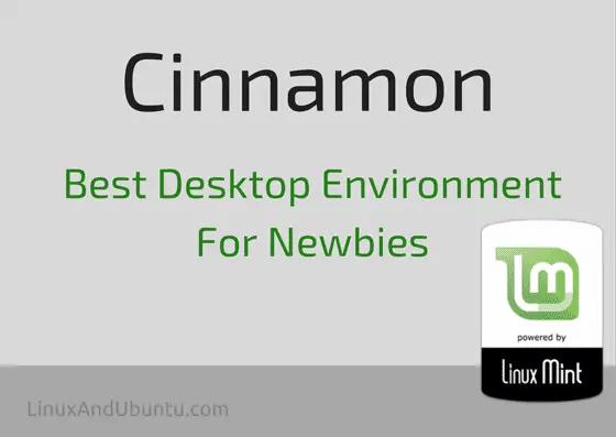 cinnamon best desktop environment