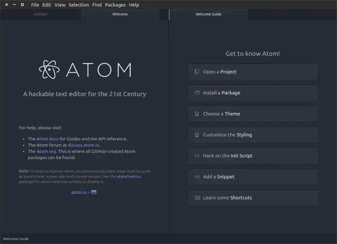 Atom IDE for linux developers