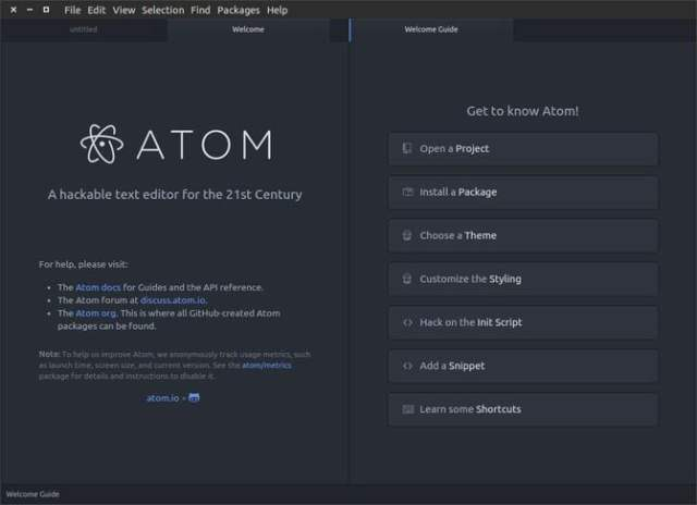 Atom IDE for linux developers