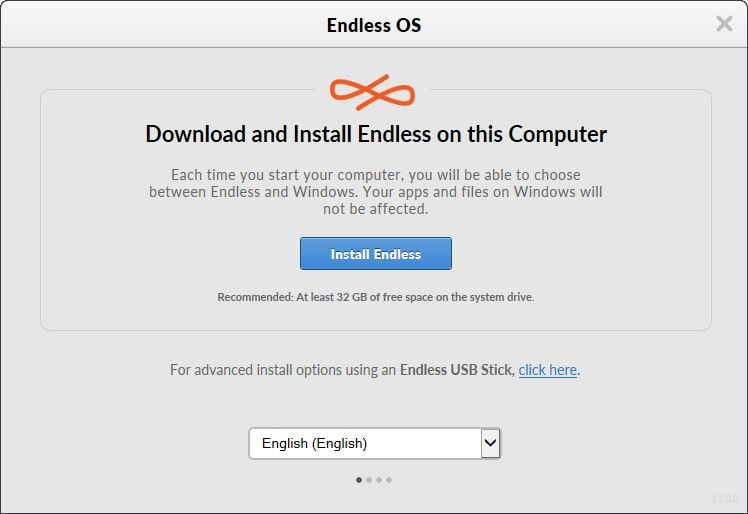 Endless OS installer on Windows