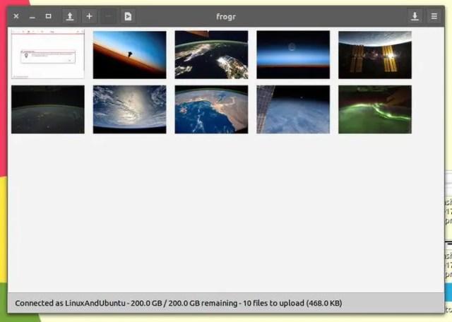 Frogr main app window