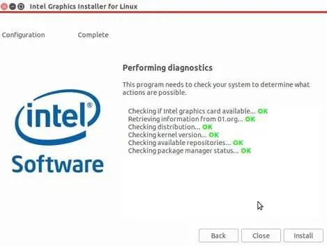Intel graphics installer scanning hardware
