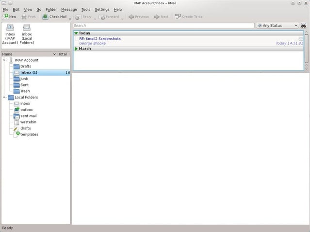 KMail linux email client review