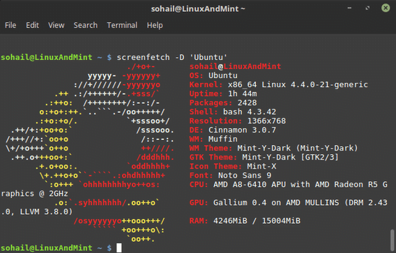 Show Off Your Linux Desktop with Screenfetch