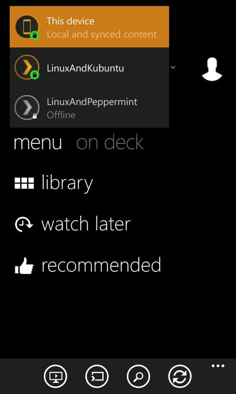 Sync media from Linux to Windows phone using Plex
