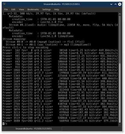 WinFF video file converter in terminal