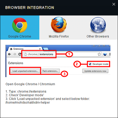 XDM new browser integration