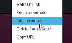 XDMan add to queue