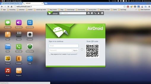 airdroid transfer files from android phone to computer