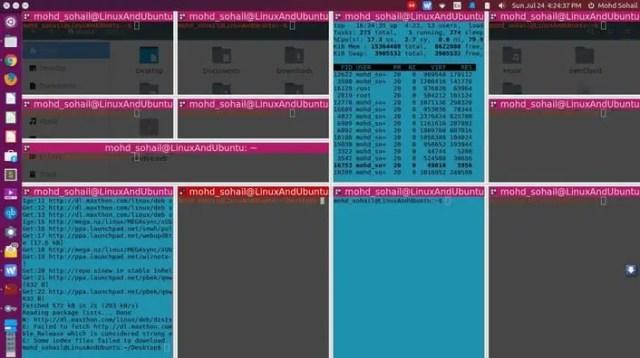 create lots of terminals in terminator