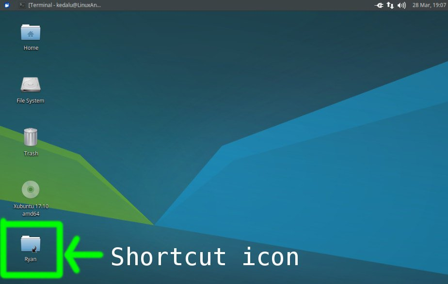 create shortcut icon in linux