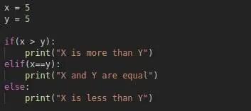 elif keyword python
