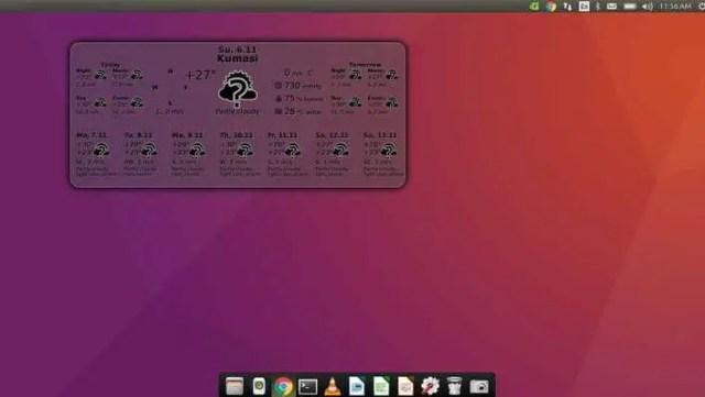 gis weather widget for ubuntu