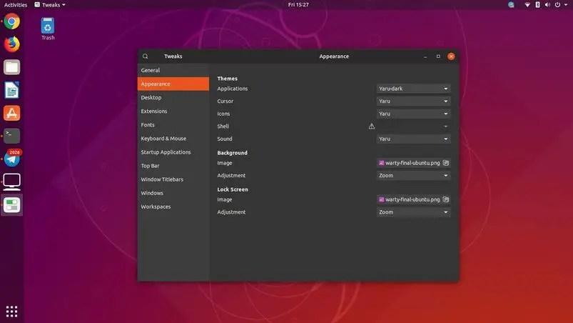 gnome tweak tool ubuntu 18.10