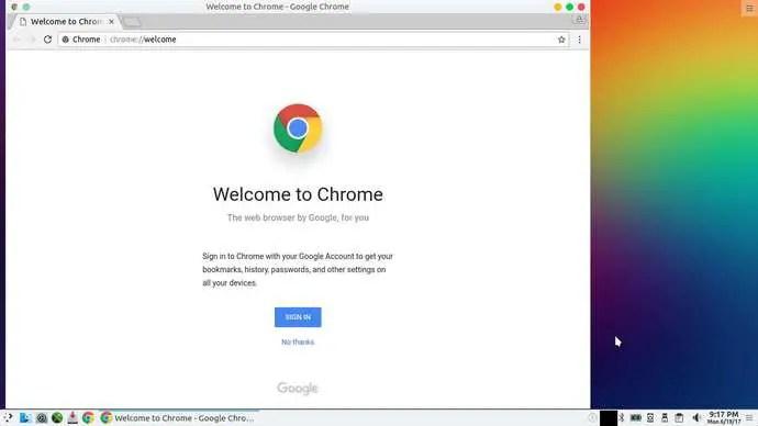 google chrome installed on pclinuxos