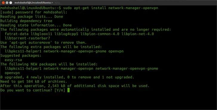 install vpn plugin in linux ubuntu