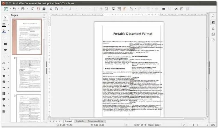 libreoffice draw linux pdf editor