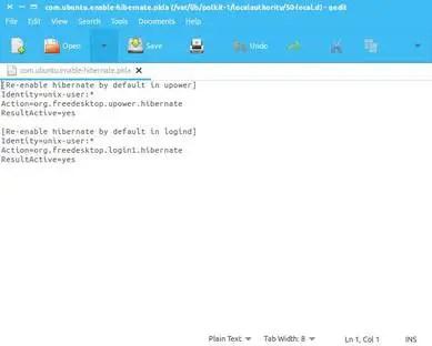 linux hibernation feature script