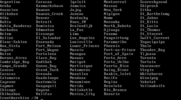 list the cities of your region