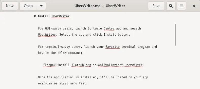 mono-text editor