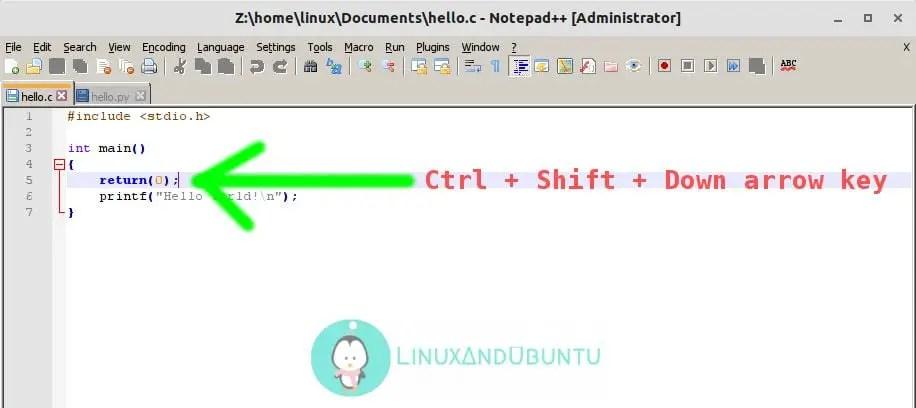 notepad++ Line transposing