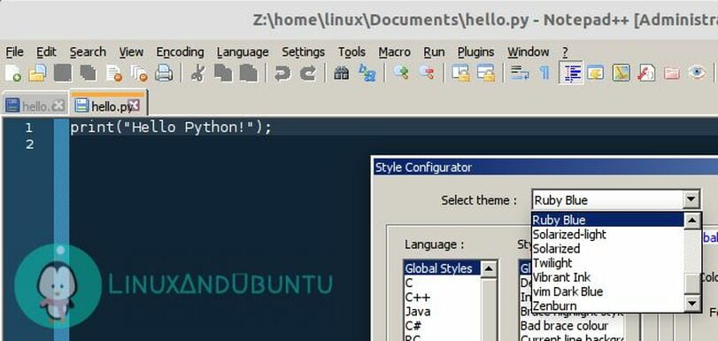 notepad++ editor for linux