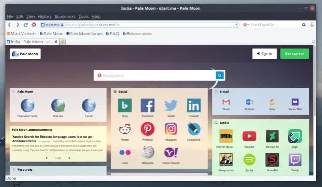 pale moon web browser