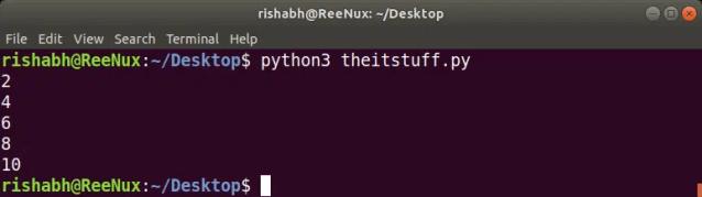 python 3 script