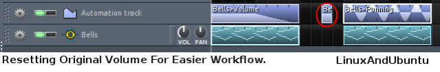 resetting original volume for easier workflow