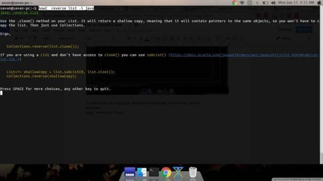stackoverflow in linux terminal
