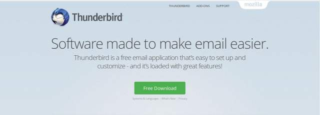 thunderbird linux email client