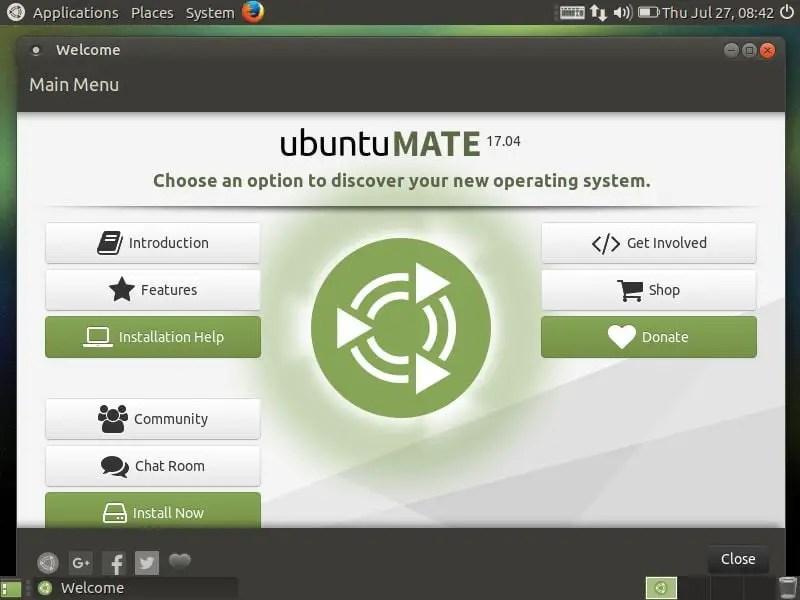 ubuntu mate 17.04 installation dialoge